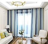 AiFish Striped Semi Blackout Curtains Bedroom Classic Wide Striped Window Treatment Beige Light/Dark Blue Grommet Room Darkening Modern Curtain Panel Drape for Living Room 1 Panel W39 x L96 inch