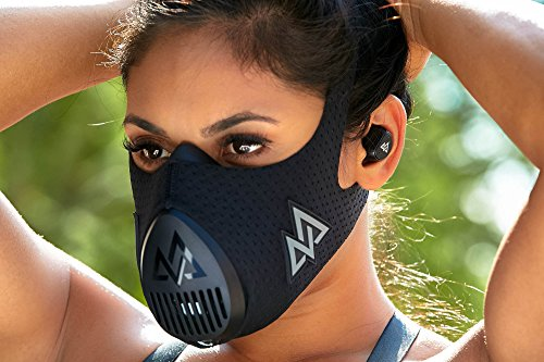 Training Mask 3.0 [All Black] Fitness Training Mask, Workout Mask, Running Mask, Breathing Mask, Resistance Mask, Cardio Mask, Endurance Mask For Fitness