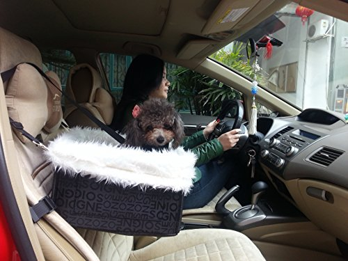 kiwitatá Lookout Dog Cat Car Seat - Pet Safety Booster Seats - Soft Sheepskin Lining Bed