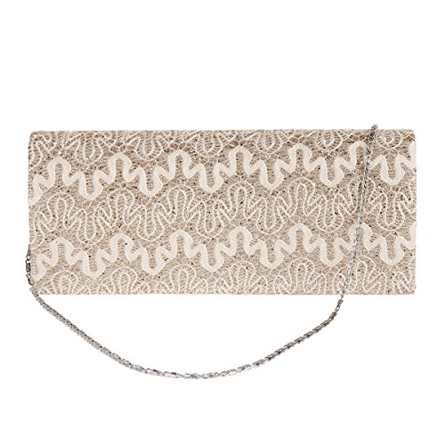 Evening Damara Hollow Flap Bag Out Womens Silver Pattern Rectangle f7Ygq