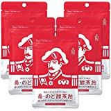 森下仁丹 鼻・のど甜茶飴 5袋 のど飴 ノンシュガー