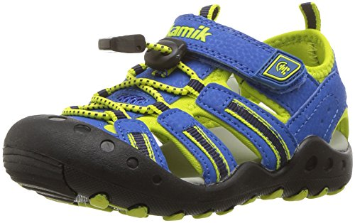 Kamik Boys' Crab Sandal, Strong Blue, 13 M US Little Kid