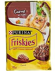 Nestlé Purina Friskies Ração Úmida Para Gatos Adultos Carne Ao Molho 85G