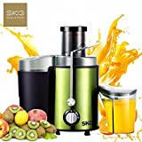SKG Easy Clean Wide Mouth BPA Free Premium 2 Speed Juice Extractor Machine Non-Slip Feet High Juicing Yield 450W Motor Juicer For Fruits Vegetables
