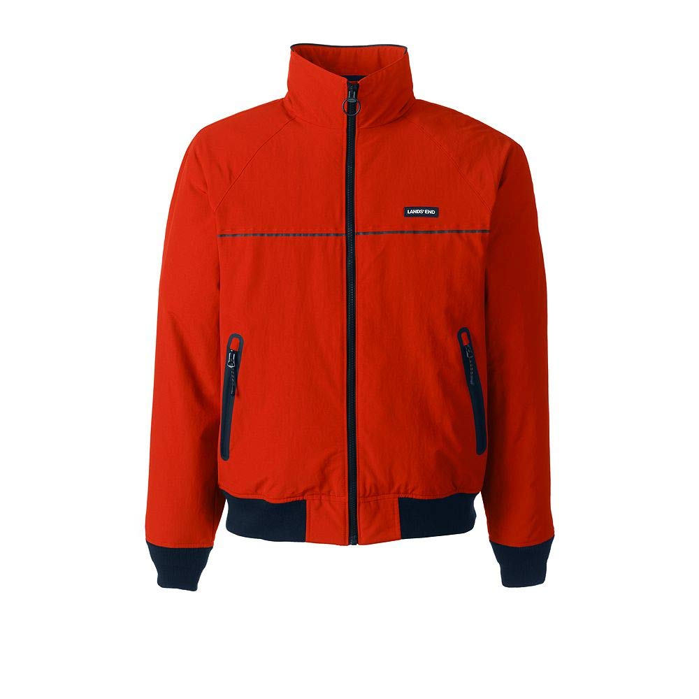 3deb31503b333 Lands  End Men s Classic Squall Jacket at Amazon Men s Clothing store   Athletic Warm Up And Track Jackets