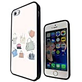 1255 - Cool Fun Trendy Cute Fashion Bloggers Handbag Luxury Clothing Design iphone SE - 2016 Fashion Trend CASE Gel Rubber Silicone All Edges Protection Case Cover - Black