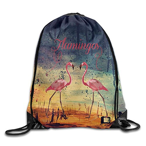 Hobo Costume Images (Flamingos Drawstring Gym Sport Bag, Large Lightweight Gym Sackpack Backpack For Men And Women)