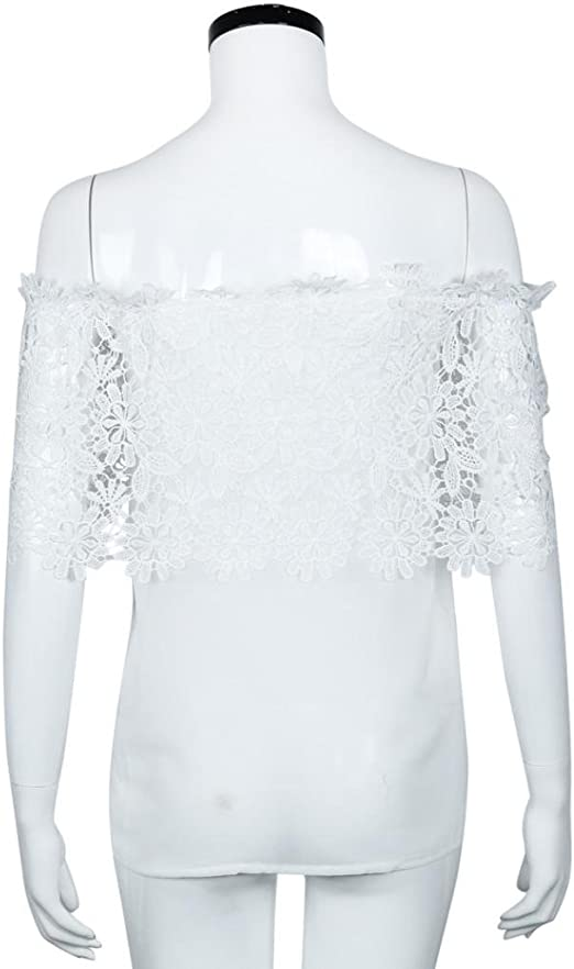 Culater® Mujer Tops Blusa Encaje de Ganchillo Chiffon Camisa Camisetas cordón: Amazon.es: Ropa y accesorios