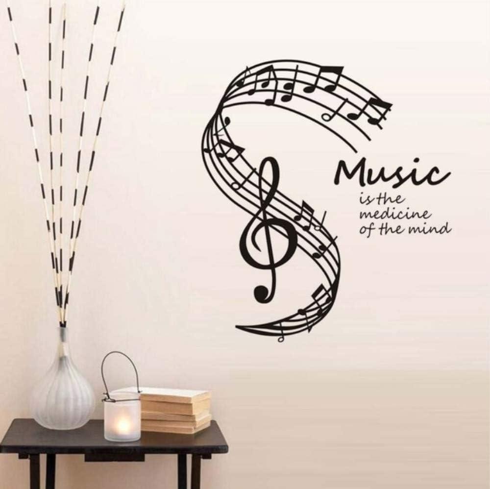 Dalxsh La música es la medicina de la mente. Pegatinas de pared ...
