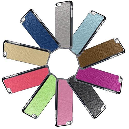 Bralexx 6233Metallic-6225Blau-Karo Smartphone Case passend für Apple iPhone 6 Plus 13,9 cm (5,5 Zoll) metallic blau