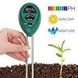 Soil Tester Covvy 3 in 1 Water Moisture Meter Acidity Humidity Light Probe Test Kit Gardening Tools for Home Lawn Farm Indoor or Outdoor Plant Care