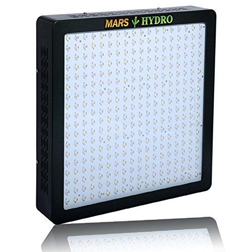 MarsHydro MARSII 1600 Led Grow Light Full Spectrum High Penentration Led Grow Lamp Light & Lighting the 749W True Watt Panel with Dual Veg/Flower Spectrum