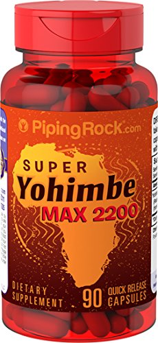 Piping Rock Super Yohimbe Max Promotes Peak Blood Flow 2200 90 Quick Release Capsules
