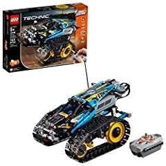Pull high-speed wheelies, spins and turns, and traverse rough terrain with the LEGO Technic 42095 Remote-Controlled Stunt Racer—the ultimate motorized vehicle for kids. This tough 2-in-1 model features 2 large ground-gripping tracks with larg...
