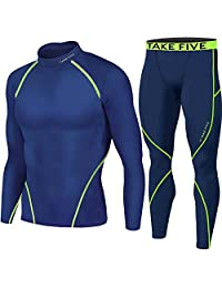 Take Five Winter Warm Thermal Base Layer Long Sleeve Shirts & Long Pants