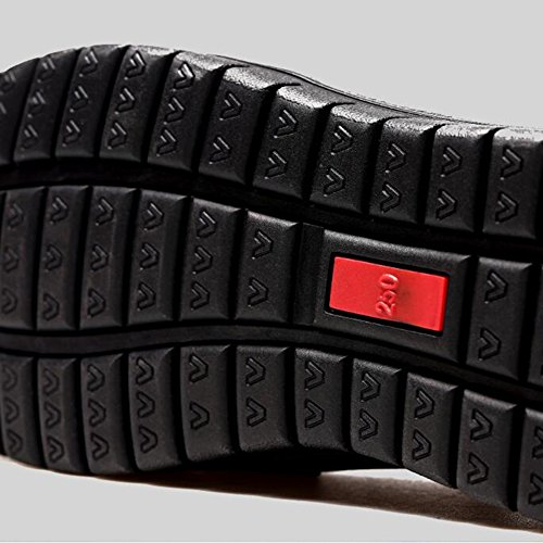 Doppio del T4 Colore piede uso mocassini Scivolare EU40 Uomo Sopra dimensioni CJC Scarpe Chiuso Piatto UK7 T1 Dito Guida wqOPIIH6