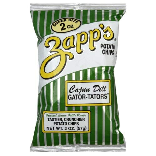 (Zapps Cajun Dill Gatortator Zapps, 2-Ounce Bags (Pack of 25))