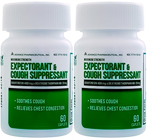 Mucus DM Expectorant Cough Suppressant 120 Caplets Generic Mucinex DM Cough - Cough Suppressant