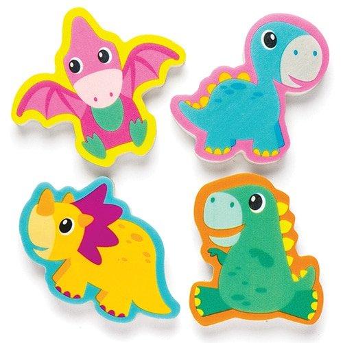 Baker Ross Gommes Petits Dinosaures pour Enfants- Cadeaux Amusants pour Pochettes-Surprises pour Enfant (Lot de 8)