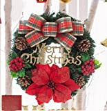 Christmas decorations 30/50/60/80cm butterfly knot Christmas wreath Ornament Mall window Decoration (30cm)
