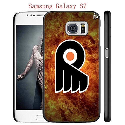 Samsung Galaxy S7 Case, Philly Flyers Hockey Team logo 26 Drop Protection Never Fade Anti Slip Scratchproof Black Hard Plastic Case