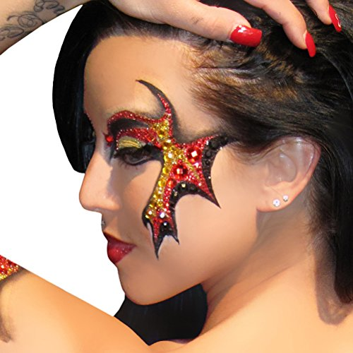 Demonic Eyes Decal Applique Xotic Eyes Costume for ShowGirls and Dancers - Demonic Costumes