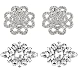 Rantanto Crystal Metal Shoes Clips Accessory Shoes Decoration Charms Pack (SDA0002)