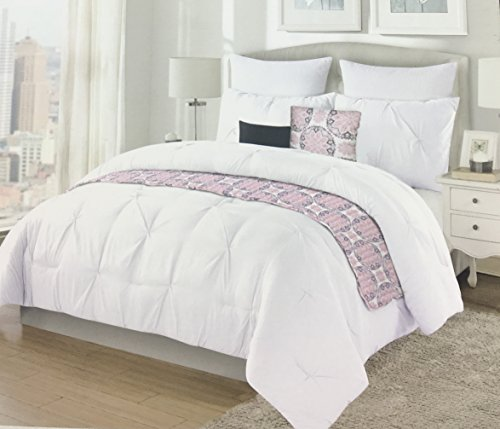 """Max Studio Home Easy Care Soft Polyester """"Pintuck White"""""""