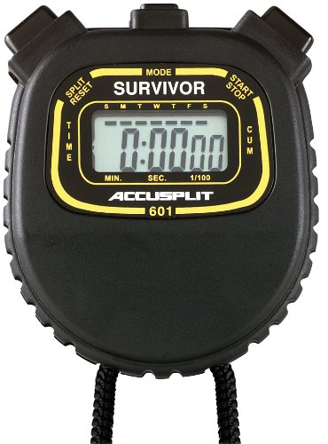 ACCUSPLIT Survivor I S1XL Stopwatch, Clock (Black) by ACCUSPLIT