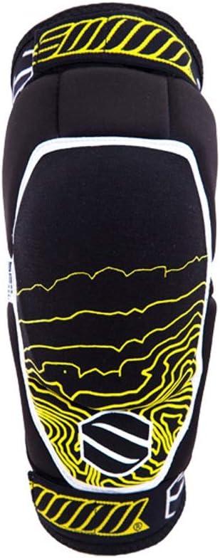 HYFJP プロテクター 膝パッド 膝当て ひざパッド 耐久性 調整可能 保護 スポーツ 通気性 (Color : ブラック, Size : S) ブラック Small