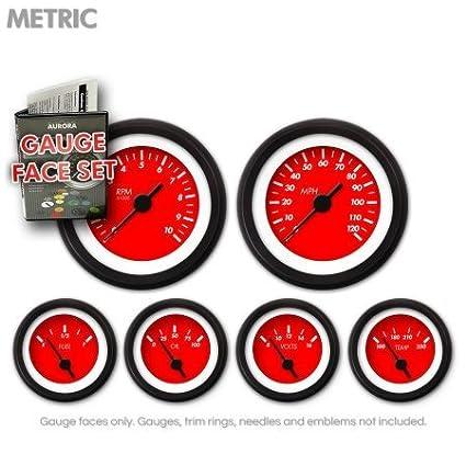 Aurora Instruments GARFM35 Marker Red Gauge Face Set