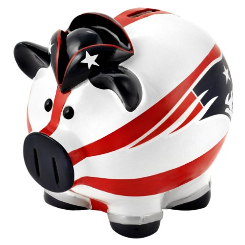 Forever Collectibles NFL New England Patriots Large Thematic Piggy Bank