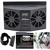 Car fan by Vibola NEW Solar Powered Car Window Air Vent Ventilator Mini Air Conditioner Cool Fan (Black)