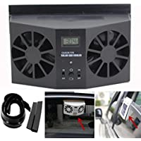 Lookatool Solar Powered Car Window Air Vent Ventilator Mini Air Conditioner Cool Fan NEW (Black)