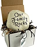 Cheap Our Family Rocks – Engraved Stone
