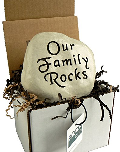 Our Family Rocks - Engraved Stone