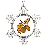 mantel decorating ideas Zora Camp Acorn Embellishment Ideas for Decorating Christmas Trees Snowflake Ornament