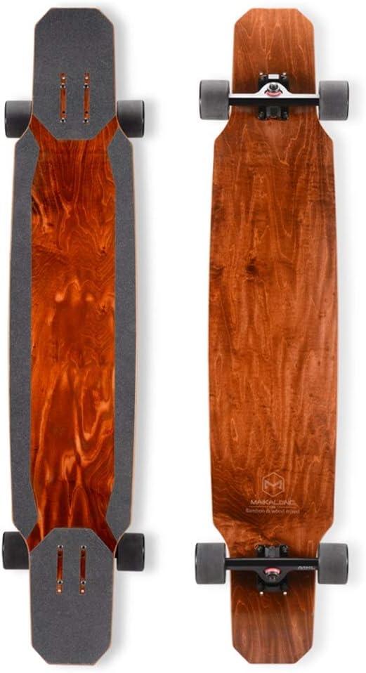 スケートボード ロングボード初心者プロボード男の子と女の子のダンスダンスボードブラウンロードブラシストリート旅行118cmスケートボード (Color : 褐色, Size : 118*24*15cm) 褐色 118*24*15cm