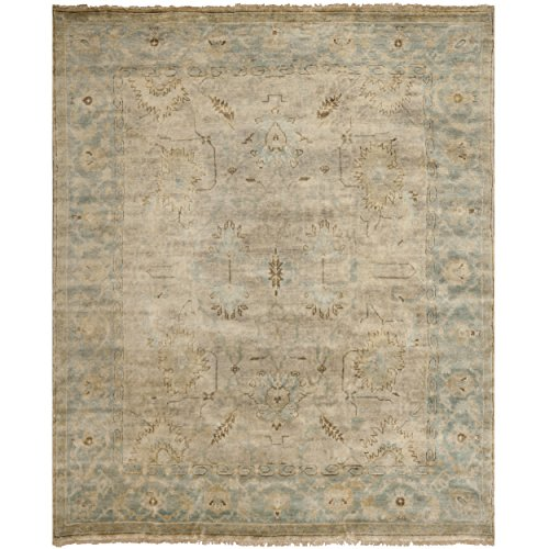 Brown Hand Knotted Wool - Safavieh Oushak Collection OSH562A Hand-Knotted Brown and Blue Wool Area Rug (8' x 10')