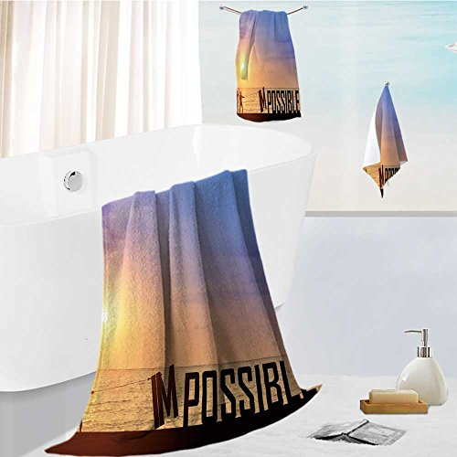 Jiahonghome Luxury Hotel Bath Towel Set - 3 Pieces motivation concept silhouette two business man success from attempt to elimination improvement 100% Turkish Soft Cotton