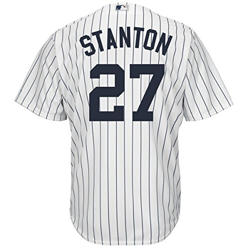 Giancarlo Stanton New York Yankees #27 Youth Cool Base Home Jersey (Youth Large 14/16) (T-shirt Jacket Jersey)