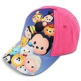Disney Little Girls Tsum Tsum Characters Cotton Baseball Cap, Pink, Age 4-7