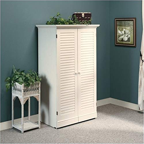 BOWERY HILL Craft Armoire in Antique White