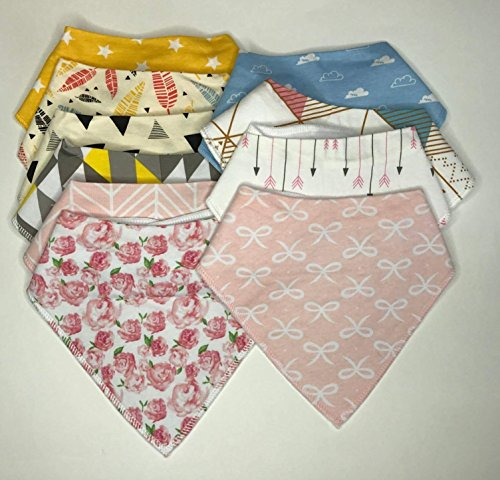 Bandana Bibs, Baby Drool Bibs for Drooling and Teething, Organic Cotton, 10-Pack by Philge (Image #1)