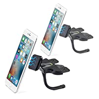 2-Pack Magnetic Smartphone CD Mount - iKross Universal In-Car CD Slot Mount Cradle Holder For iPhone, Smartphone with 360 Rotation - Black