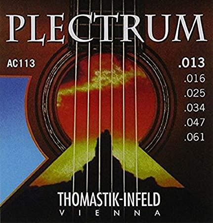 Thomastik Cuerdas para Guitarra Acústica Plectrum Acoustic Series juego AC111 Light .011-.050 sin niquel