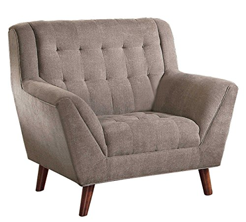 Homelegance Erath Danish Modern Mid Century Arm Chair with Tufted Accent, Sand