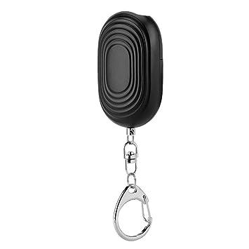 Alarma Personal, SOS Keychain de Emergencia Portátil con Seguridad de Linterna LED pequeña Autodefensa Sirena para Mujeres Llavero