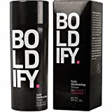 BOLDIFY Hair Fibers for Thinning Hair - 100% Undetectable Natural Formula - Completely Conceals Hair Loss in 15 Seconds - 25 Grams (Black)