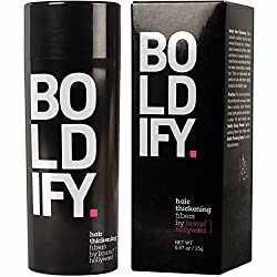 BOLDIFY Hair Fibers for Thinning Hair - 100% Undetectable Hair Fibers - Completely Conceals Hair Loss in 15 Seconds - 25 grams (White)